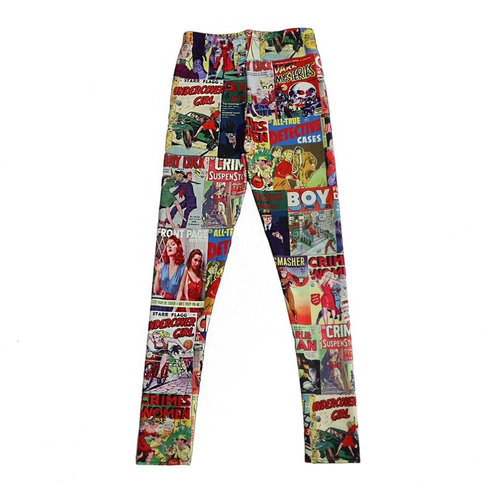 Elastic Casual Pants 3D Digital Printing Box comics Pattern Women Leggings 7 sizes Fitness Clothing Free Shipping