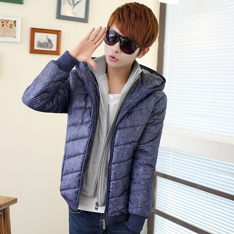 T china cheap wholesale 2016 autumn winter new men Korean version Hooded Cotton-padded jacket slim casual personality tide  free shipping 2016 autumn winter new korean version fashion city men slim casual zipper cotton padded jacket cheap wholesale