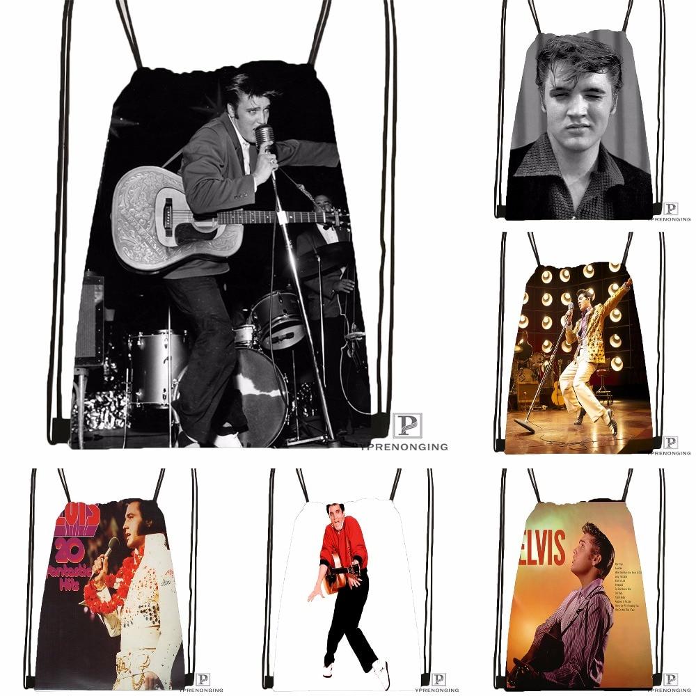 Custom Elvis Presley 09 Drawstring Backpack Bag Cute Daypack Kids Satchel Black Back 31x40cm 180531 02