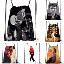 Custom Elvis Presley @09 Drawstring Backpack Bag Cute Daypack Kids Satchel (Black Back) 31x40cm#180531-02-38