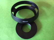2 в 1 бленда объектива с цветком черный металл для Canon QL17 G3, QL17 GIII, 48 мм R35 F2 F2.8 R50 F1.4 R28 2,8 E48