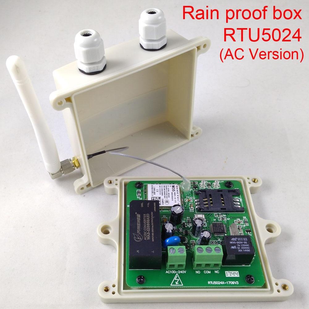 Rain proof type GSM Swing Sliding Gate Opener Relay Switch Remote Access Control Door Opener RTU5024