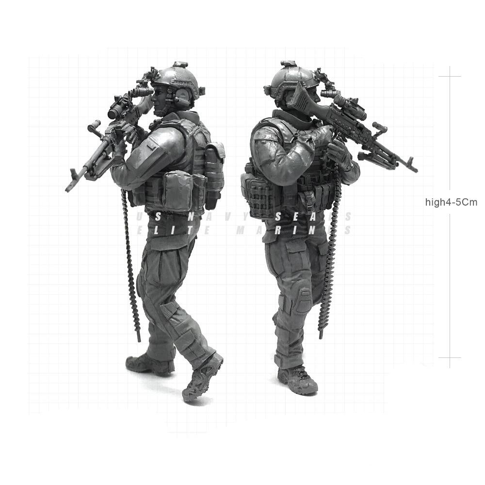 1/35 современный ВМС США уплотнения Elite десантники оповещения пулеметчик военнослужащего Смола Модель Рисунок NAI-21
