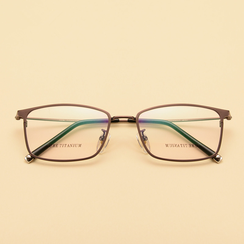 Multifokale Rahmen Hohe Männer Myopie Hyperopie Brillen Reinem Titan Progressive Gläser Optische Qualität PwxdZqX