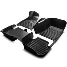 car floor mats foot rugs set  for Citroen QUATRE Triomphe elysee Picasso C2/4/5/4L leather case Regal Park Avenue black cream