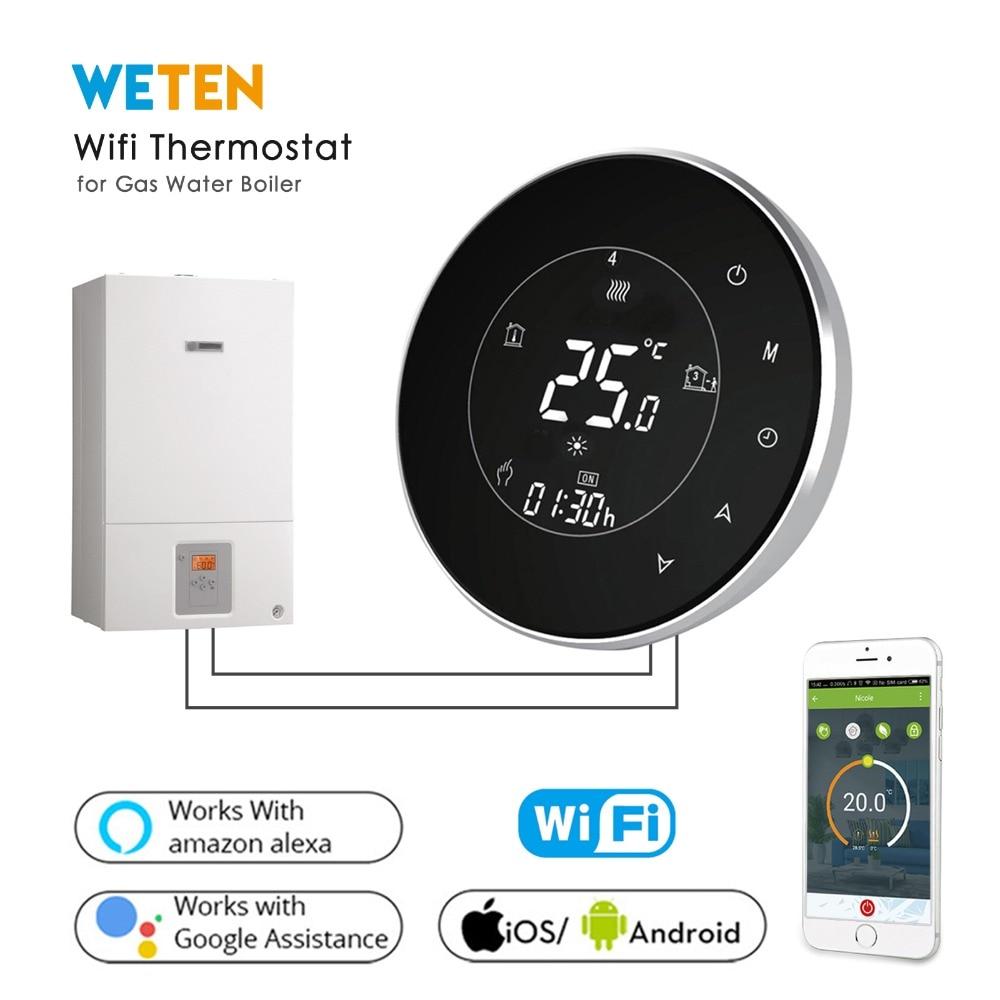 Weten Smart Wifi Wireless For Water Gas Boiler Heating Programmable Thermostat App