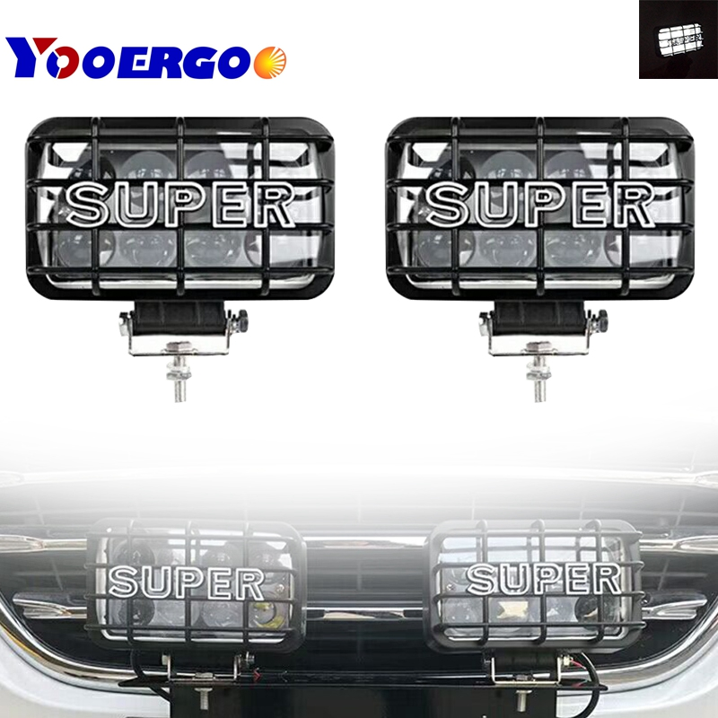 Off Road Car Led Light 40W 4D Work Light With Mask Spot Lights For 4x4 Auto Jeep Wrangler Lada Tractor Suv Truck 12V