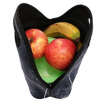 Néoprène Pique-nique Déjeuner Sac Pour Enfants Filles Doxie Chien Teckel Imprimer Femmes Nourriture Thermique Isolé Lunchbox Torba Termiczna