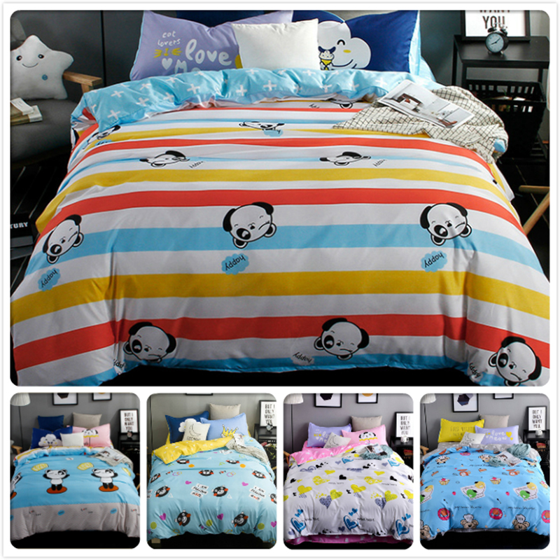 Humor Color Stripe Kids Boy Girl 3/4 Pcs Pieces Bedding Set King Queen Twin Double Size Duvet Cover 1.2/1.5/1.8/2 M Bedsheet Bedlinens Solar