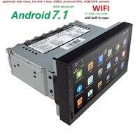 Hizpo Quad Core 7 1 Din Android 7.1 Car NO DVD Radio Multimedia Player 1024*600 Universal GPS Navigation autoradio Stereo Audio