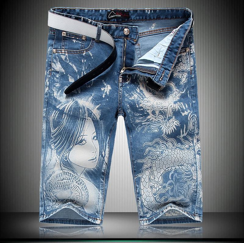 HOT SALE Fashion Denim font b Shorts b font Jeans font b Men b font Famous