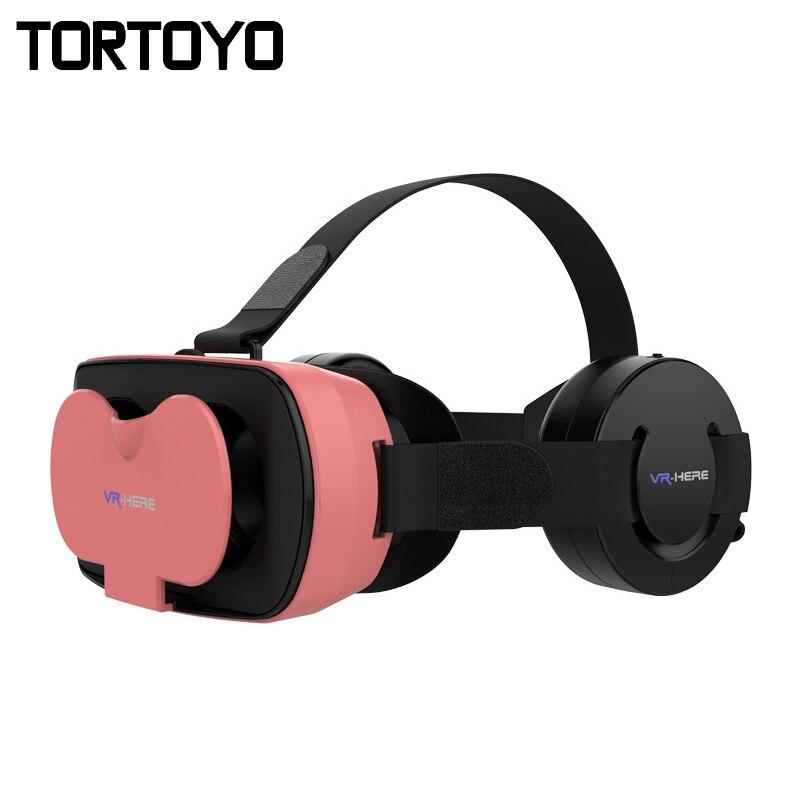 Mini VR HERE 3D VR Glasses Virtual Reality Glasses Head Mount Helmet VR with HIFI Headphone Headset For 4.7-6.0 inch Phone