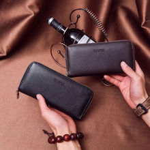 New2017 luxury Male Leather Purse Mens Clutch Wallets Handy Bags Business Men Black Brown Dollar Price B23