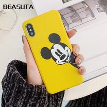Yellow Case For huawei P10 P10pro Cover Mickey Minnie Silicone Soft  Coque mate20 nov2s 3e 3i Bags Funda capas