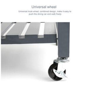 Image 5 - الصلبة الصنوبر العلوي المطبخ جزيرة عربة ثلاثة طبقة الرف الرف مع عجلة عالمية HWC