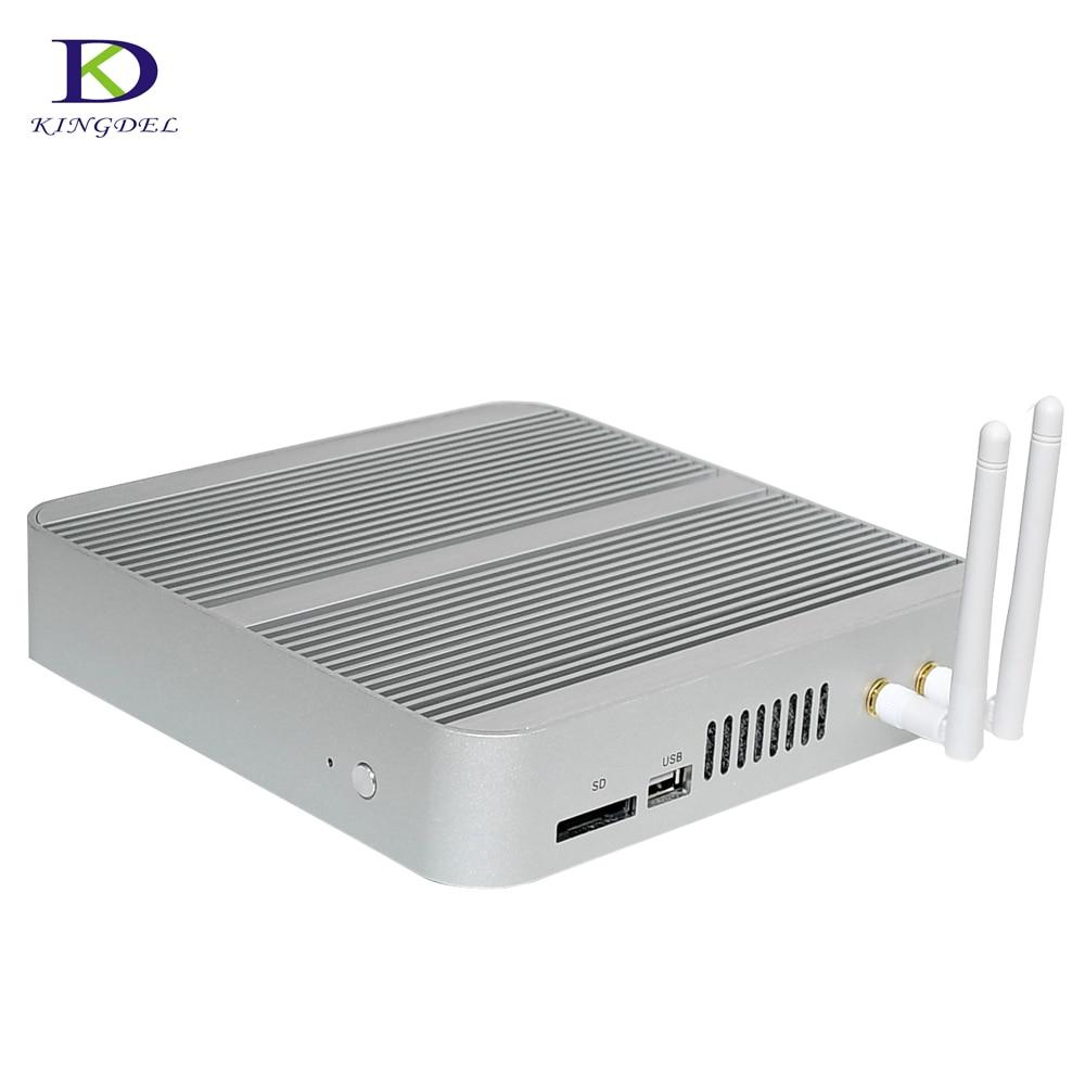 Newest 6th Generation Fanless Mini Pc Core I3 6100U 8/256 Windows 10 Mini PC Nettop 4K VGA HDMI HTPC 300M WiFi
