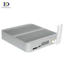 Новые 6-го Поколения Безвентиляторный Mini pc Core I3 6100U 8/256 Windows 10 Mini PC HTPC Nettop 4 К VGA HDMI 300 М wi-fi