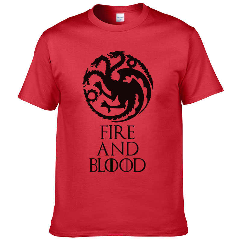 bfdb8daef1081 Detail Feedback Questions about 2017 New Listing Game of Thrones T shirt  fire and blood Tee House Targaryen shirt Fitness Casual Streetwear Cotton T  shirt ...