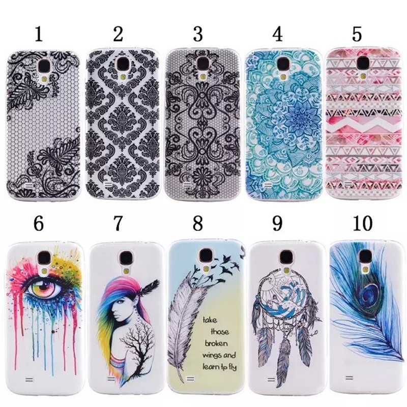 Fashion Ultra Thin Soft TPU Pattern Case For Samsung Galaxy S4 SIV I9500 9500 Silicone ShockProof Phone Back Cover,XX-P021