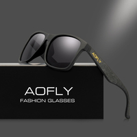 AOFLY Vintage Retro Polarized Sunglasses Men Coating Mirror Driving Sun Glasses Polaroid Lens Square Eyewear Male