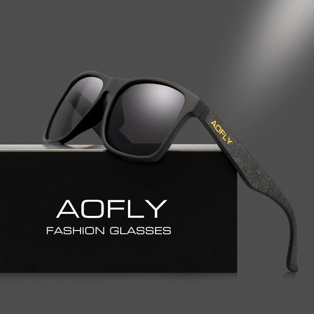 AOFLY Винтаж Ретро Поляризованные Солнцезащитные очки Для мужчин покрытие зеркало вождения Защита от солнца Очки поляроидный квадратные очки мужские очки AF8058