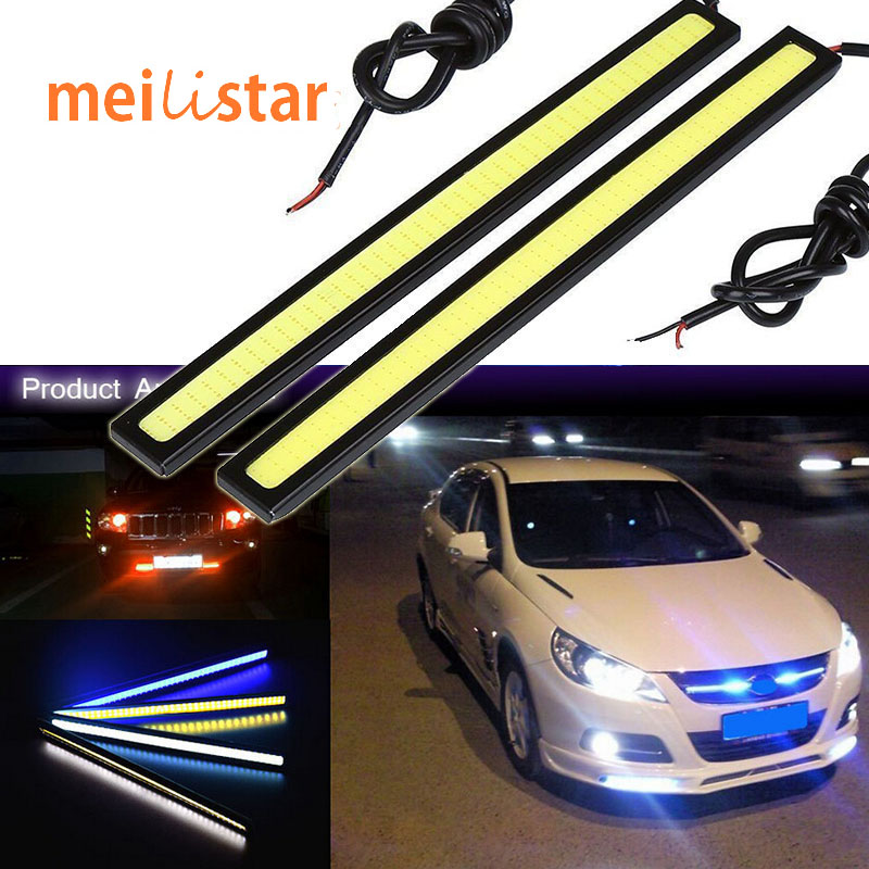 Car styling 1pcs 17cm 20W COB LED Lights DRL Daytime Running Light car lights For Universal Car 100% Waterproof Fog Parking