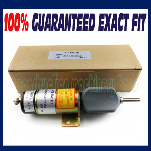 Free shipping - Fuel shut off Shutdown stop solenoid 1504-24C2U1B1S1A 24V DC 1500-2057 fuel shutdown solenoid valve shut off stop f1hz 9n392 a for cummins vw ford 12v