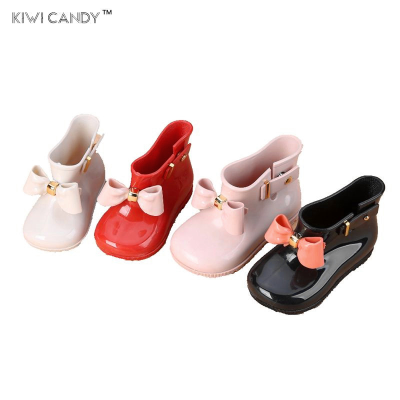 girls rain Boots shoes cute bow-knot candy smell baby todder little adorable soft fashion boots non slip water shoes Sapato