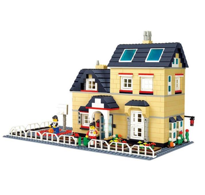 model building kits compatible with lego villa series 3d blocks educational model building toys. Black Bedroom Furniture Sets. Home Design Ideas