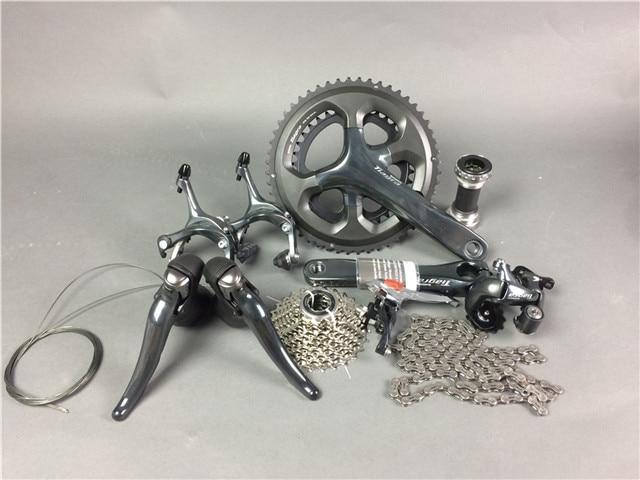 ! Shimano TIAGRA 4700 Speed Road Bike Groupsets Bicycle 50/34 52/36 170mm Groupset 10 2*10 Speed цены