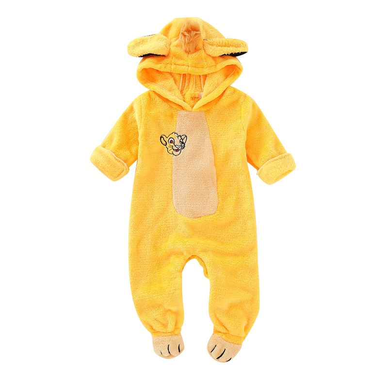 Baby Clothes Autumn Baby Girl Boy Casual Hoodie Romper Infant Cartoon Print Long Sleeve Children Bodysuit Jumpsuit Outfits
