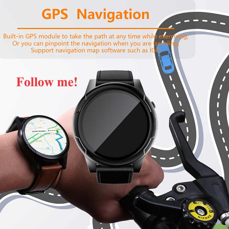 f34dd23cb Smart watch GPS MTK6739 3GB+32GB large memory 4G smartwatch Android watch  camera wristwatch business