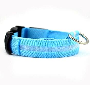 Nylon LED Pet dog Collar,Night Safety Flashing Glow In The Dark Dog Leash,Dogs Luminous Fluorescent Collars Pet Supplies 1