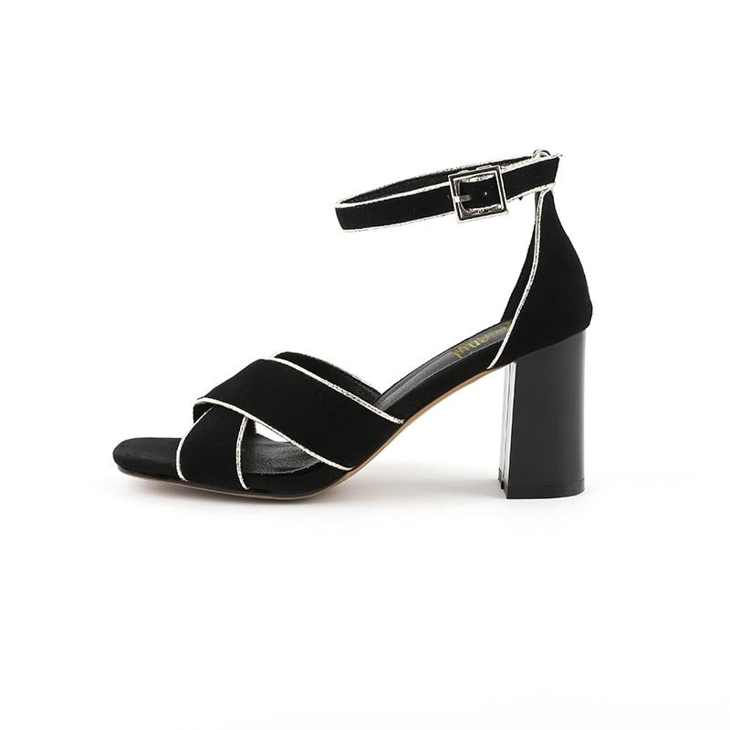 courroie 33 D'été Sandales Chaussures Croix Taille Peep Toe Femme Talons Noir Sangle Solide rouge Cuir Mode Femmes Kcenid En La 40 Plus Daim Cheville HRq7wTt7