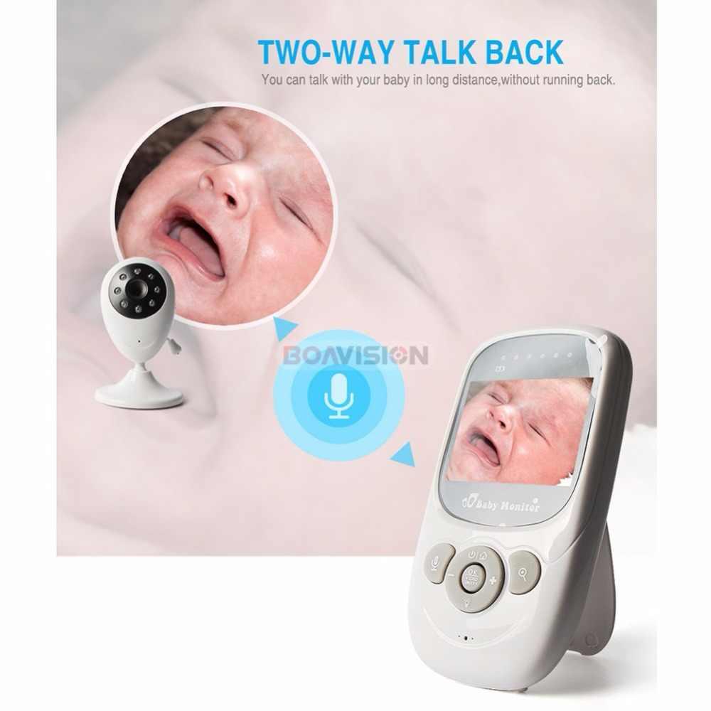 2,4 дюймов 2,4 г беспроводной видеоняня монитор двусторонний аудио 5 м ИК температура колыбельные портативная детская камера безопасности рация