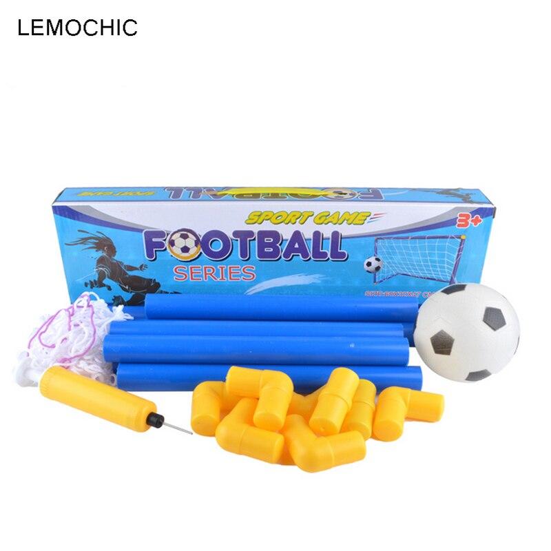 LEMOCHIC Portable Folding Children Football Goal Door Set Football Gate Outdoor Sports Toys Kids Soccer Door Set Cool Gifts