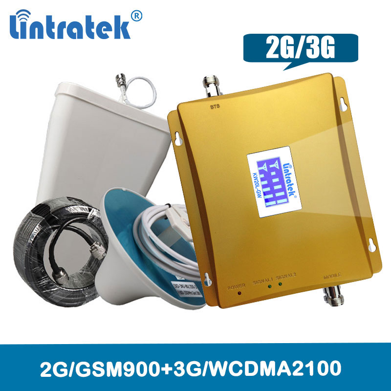 Repeater 3G WCDMA 2100MHz GSM 900Mhz Dual Band Mobile Phone Cellular Signal Booster 2G 900 2100 UMTS Signal Amplifier 2G 3G @4.6