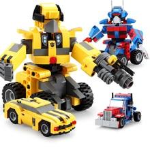 все цены на 2-IN-1 Transformation Series MOC Building Blocks Set Robot Car Model Deformation Truck Fit Technic City Bricks Toys For Children онлайн