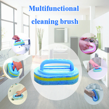Kitchen Cleaning Bathroom Toilet Kitchen Glass Wall Cleaning Bath Brush Plastic Handle Sponge Bath Bottom