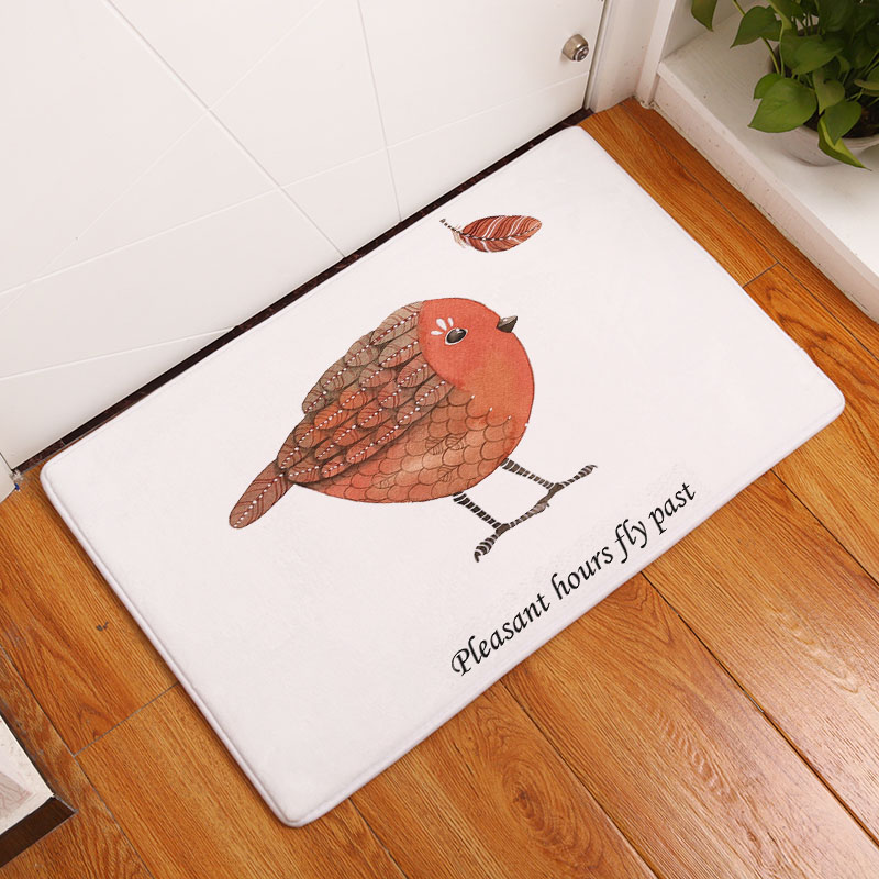Monily Entrance Waterproof Door Mat Cartoon Bird Turkey Kitchen Rugs Bedroom Carpets Decorative Stair Mats Home Decor Crafts
