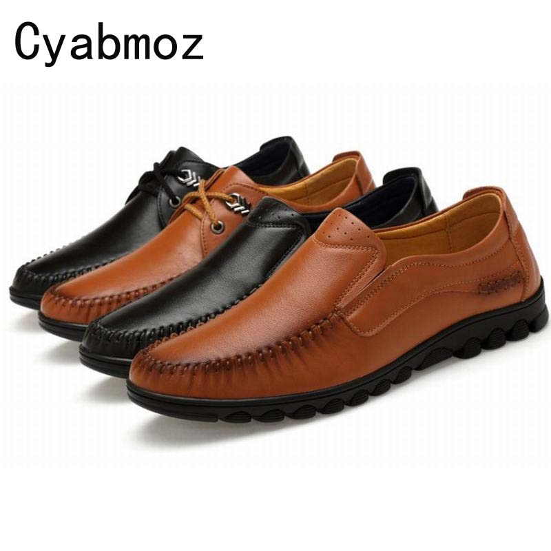 New Mens Flats Big Size 38-47 Genuine Leather Soft Oxfords Mens Dress Shoes Vintage Formal Shoes Slip On Man Moccasins Loafers vintage embroidery women flats chinese floral canvas embroidered shoes national old beijing cloth single dance soft flats