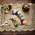 free shipping Peter Rabbit lovely embroidery spell color soft and comfortable socks socks Japanese Sen female line 2015 spring n