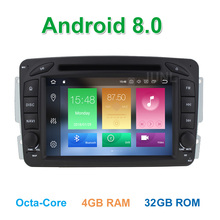 ФОТО  octa core 4 gb ram android 8.0 car dvd player for mercedes/benz w203 s203 w209 c209 w639 with gps radio bt wifi