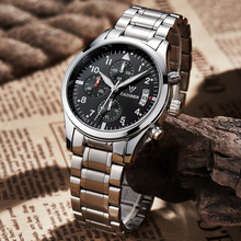 NEW Brand Cadisen Mens Watches Luxury Men Military Sport Wristwatch Multi-function Chronograph Quartz Watch Casual clock hours