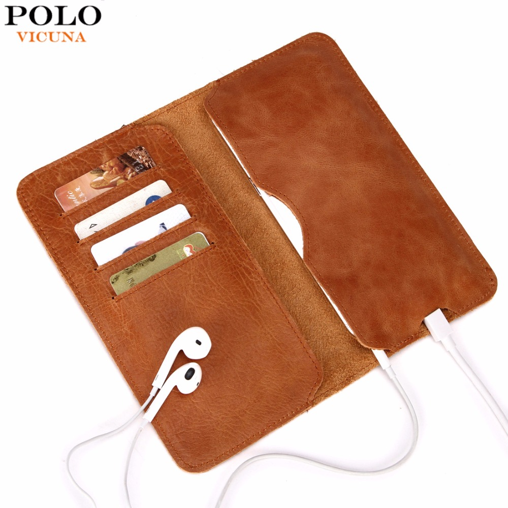 Vicuna Polo Genuine Leather Wallet Simple Ultrathin Men S