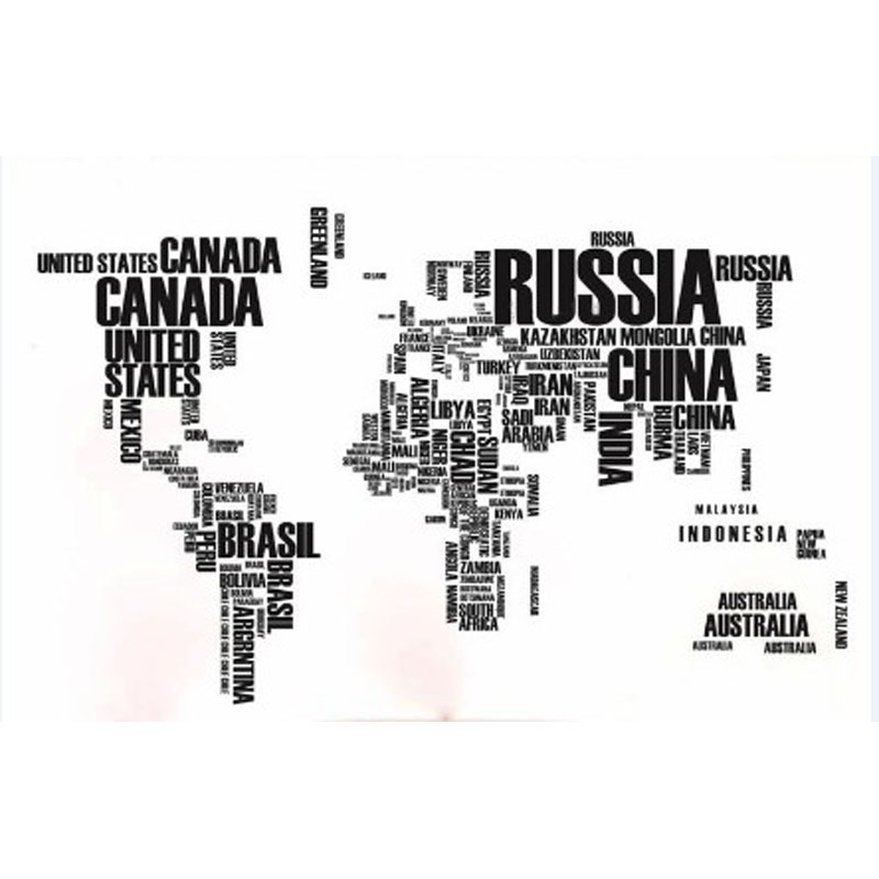 zooyoo black english words world map wall stickers poster removable pvc diy decals for kids rooms living room office decor in wall stickers from home