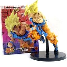 Baru 20 Cm Dragon Ball Z Goku Gambar Mainan Anak Goku Jump 50th Anniversary Anime Dbz Model Boneka Hadiah untuk anak-anak Mainan