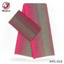 Digital printed satin fabric african wax pattern 2 in 1 design 2 yards Chiffon+4 yards Satin fabric for garment AYC-13 sinful in satin