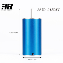 Free shipping RC car 70A electricity 3670 2150KV 4poles Brushless Motor size 36 70mm for RC