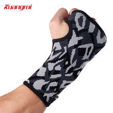 Kuangmi 1PC Cpmpression Sports Wrist Brace Support Wristband Thumb Stabilizer Hand Wrap for Volleyball Tennis Weightlifting Gym